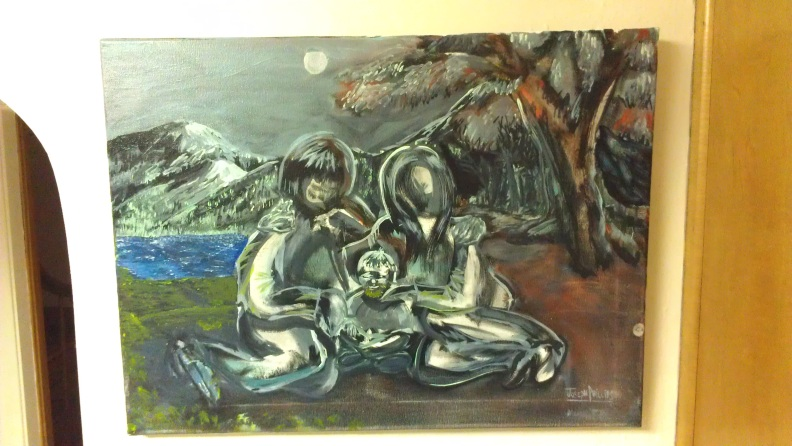 Moonlit Fambly - Finished Painting