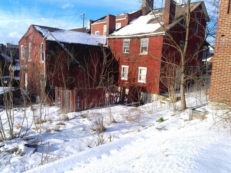 Ruins of neighborhood home circa 1850s