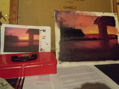 sunset with original photo