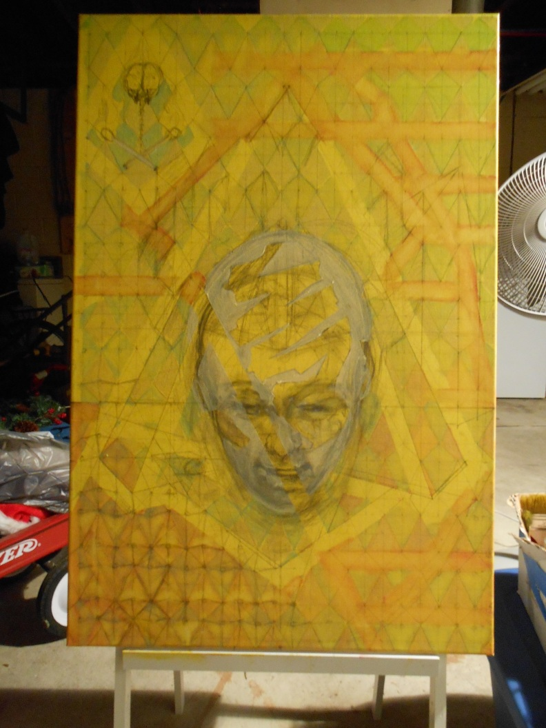 Painting in progress - Sweet Cavity Resonance