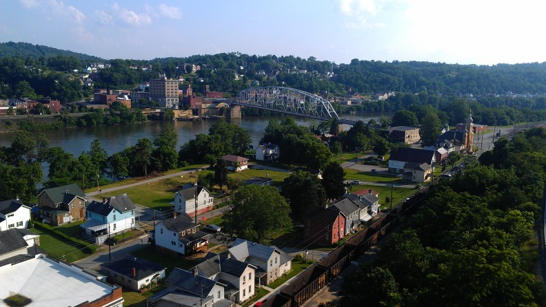 Brownsville, Pennsylvania,  population 2,600.