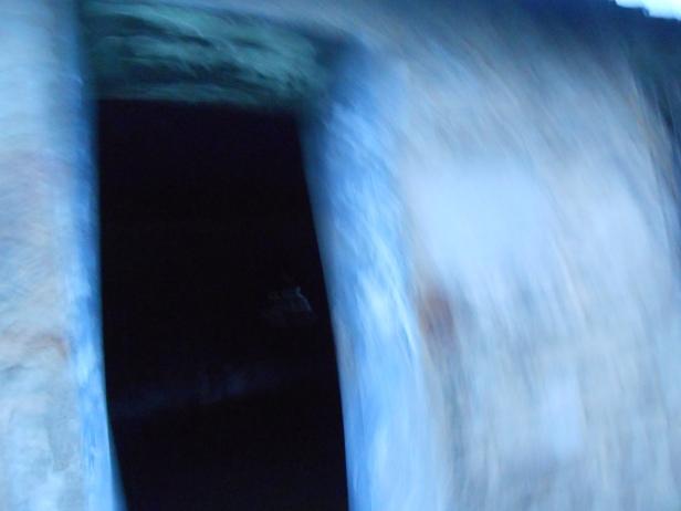 Doorway of abandoned Quaker church