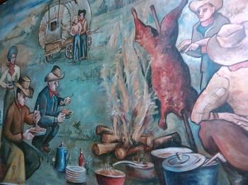 chuck wagon mural